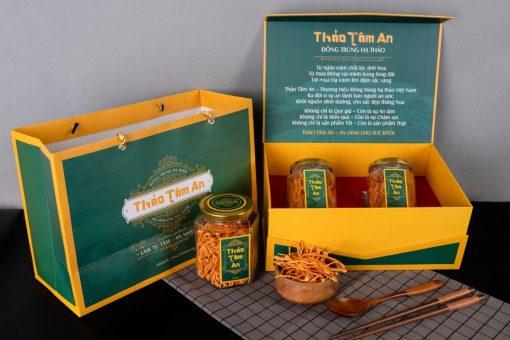 Hộp quà tặng Nấm trùng thảo khô Thảo Tâm An