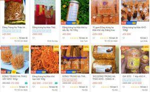 Loạn giá Đông Trùng Hạ Thảo trên các sàn thương mại điện tử
